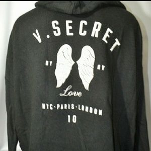 Vs angel wing NY full zip hoodie love L lightweigh